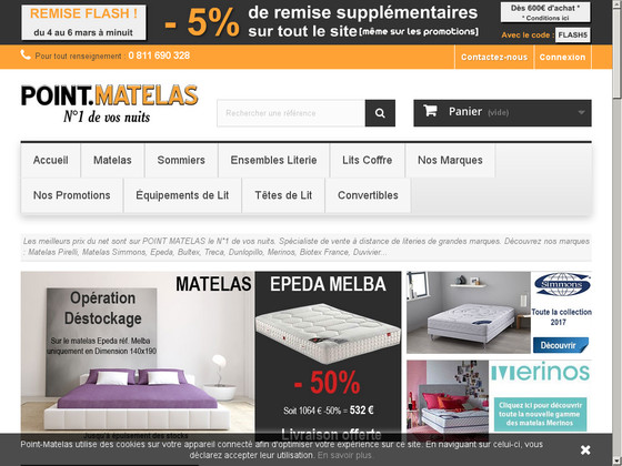 Point-matelas