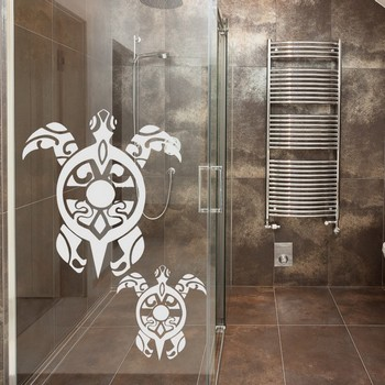 Ludicade d coration de la maison stickers boutique for Vitre salle de bain
