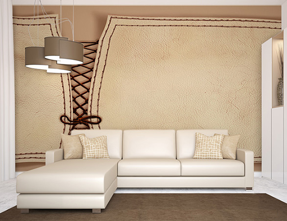Décor mural design, collection Leather Wall